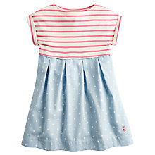 Buy Little Joule Children's Emmie Stripe Chambray Dress, Blue Online at johnlewis.com