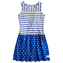 Buy Little Joule Children's Patsy Stripe Sleeveless Dress, Blue Online at johnlewis.com