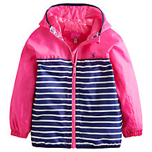 Buy Little Joule Girls' Skye Stripe Waterproof Jacket, Pink/Blue Online at johnlewis.com