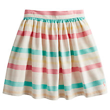 Buy Little Joule Girls' Aven Stripe Skirt, Cream/Multi Online at johnlewis.com