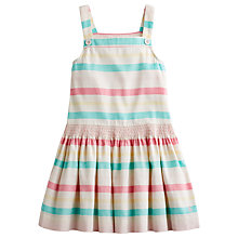 Buy Little Joule Girls' Freya Stripe Pinafore Dress, Cream/Multi Online at johnlewis.com
