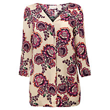 Buy East Celeste Print Blouse, Pearl Online at johnlewis.com