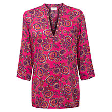 Buy East Celeste Print Tunic Top, Pink Online at johnlewis.com