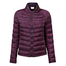 Buy East Fern Print Puffa Jacket, Plum Online at johnlewis.com