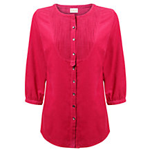 Buy East Pintuck Babycord Blouse, Peony Online at johnlewis.com