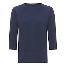 Buy Jaeger Ponte Short Sleeved T-Shirt, Navy Online at johnlewis.com