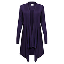 Buy East Merino Longline Cardigan, Plum Online at johnlewis.com