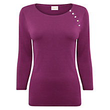 Buy East Button Detail Jumper, Pansy Online at johnlewis.com