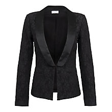 Buy Wolf & Whistle Brocade Blazer, Black Online at johnlewis.com