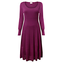 Buy East Stitch Merino Dress, Pansy Online at johnlewis.com