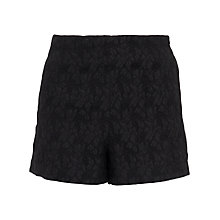 Buy Wolf & Whistle Brocade Shorts, Black Online at johnlewis.com