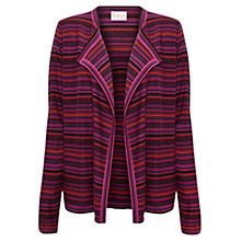 Buy East Merino Stripe Cardigan, Pink Online at johnlewis.com