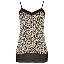 Buy Oasis Animal Print Chiffon Hem Cami, Multi Black Online at johnlewis.com