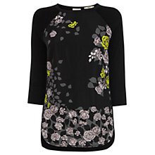 Buy Oasis Winter Rose Sweater, Black Online at johnlewis.com