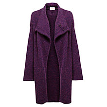 Buy East Boucle Knit Long Cardigan, Plum Online at johnlewis.com