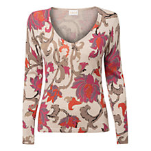 Buy East Rhoda Print Jumper, Pearl Online at johnlewis.com