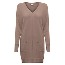 Buy East Slouchy Pocket Tunic Dress, Pebble Online at johnlewis.com