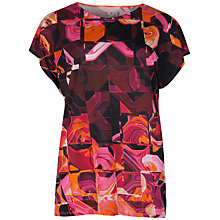 Buy Ted Baker Retro Geo Top, Pink Online at johnlewis.com