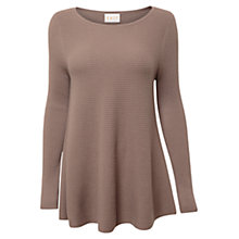 Buy East Ribbed Swing Jumper, Pebble Online at johnlewis.com