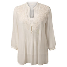 Buy East Embroidered Blouse, Pearl Online at johnlewis.com
