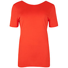 Buy Ted Baker V Back T-Shirt, Tangerine Online at johnlewis.com