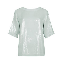 Buy Ted Baker Sequin Square Top, Pale Green Online at johnlewis.com