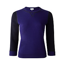 Buy Jigsaw Loopback Merino Jumper, Blue Online at johnlewis.com