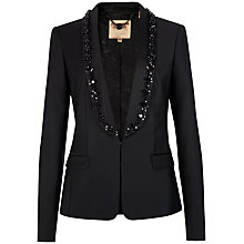 Buy Ted Baker Embellished Lapel Blazer Jacket, Black Online at johnlewis.com