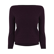 Buy Oasis Slash Neck Top, Burgundy Online at johnlewis.com