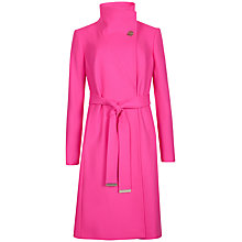 Buy Ted Baker Belted Wrap Coat, Pink Online at johnlewis.com
