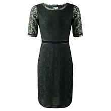 Buy Jigsaw Fitted Lace Dress, Green Online at johnlewis.com