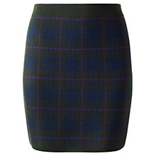 Buy Jigsaw Overstated Check Wool Skirt, Khaki Online at johnlewis.com