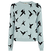 Buy Oasis Bird Cropped Jumper, Pale Green Online at johnlewis.com