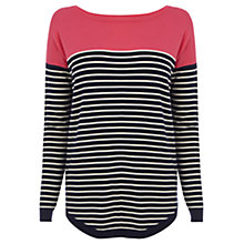 Buy Oasis Heart Patched Jumper, Navy/Pink Online at johnlewis.com