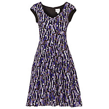 Buy Reiss Allegra Abstract Print Flared Dress, Mara Block Online at johnlewis.com