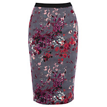 Buy Oasis Painterly Floral Pencil Skirt, Multi Online at johnlewis.com