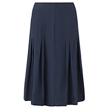 Buy Jigsaw Silk Pleated Skirt, Navy Online at johnlewis.com