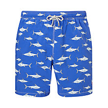 Buy Hackett London Shark Print Swim Shorts, Blue Online at johnlewis.com