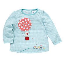 Buy John Lewis Hot Air Balloon Long Sleeve Top, Green Online at johnlewis.com