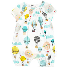 Buy John Lewis Smocked Air Balloon Playsuit, Multi Online at johnlewis.com