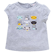 Buy John Lewis Cat T-Shirt, Grey Online at johnlewis.com