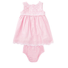 Buy John Lewis Baby's Chambray Dress, Pink Online at johnlewis.com