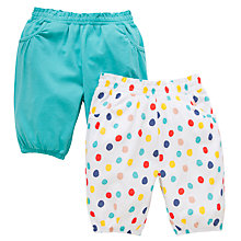 Buy John Lewis Cotton Bloomers, Pack of 2, Multi Online at johnlewis.com
