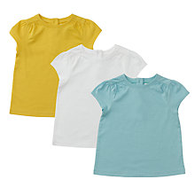 Buy John Lewis T-Shirt, Pack of 3, Multi Online at johnlewis.com
