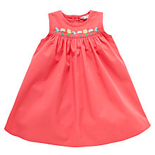 Buy John Lewis Embroidered Pinafore, Pink Online at johnlewis.com