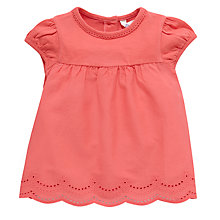 Buy John Lewis Embroidered Anglaise Top, Coral Online at johnlewis.com