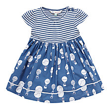 Buy John Lewis Hot Air Balloon Stripe Dress, Navy/White Online at johnlewis.com