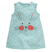 Buy John Lewis Bunny Head Pinafore Dress, Green Online at johnlewis.com
