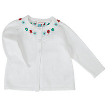 Buy John Lewis Floral Pointelle Cardigan, Cream Online at johnlewis.com