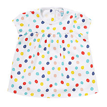 Buy John Lewis Colour Spot Sleeveless Top, White/Multi Online at johnlewis.com